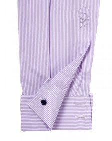 "The Egyptian Cotton ""Pharaoh Class"" Shirt in Lilac with White Stripe"