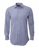 The Contrast City Shirt in Blue Bengal Stripe