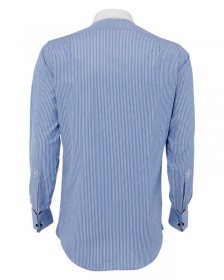The Contrast City Shirt in Blue & White Stripe