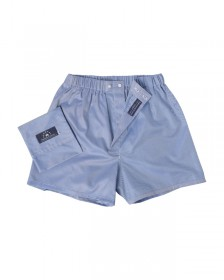 "The ""Leon Sphinx"" Boxer in 100% Egyptian Cotton, Deep Blue Twill Weave"