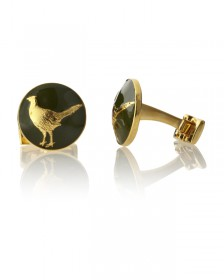 The Hunter Pheasant Green-Gold Plated