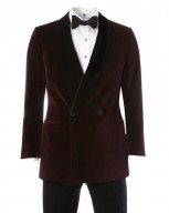 "The Glenny ""Beaufighter"" Velvet Shawl Smoking Jacket"